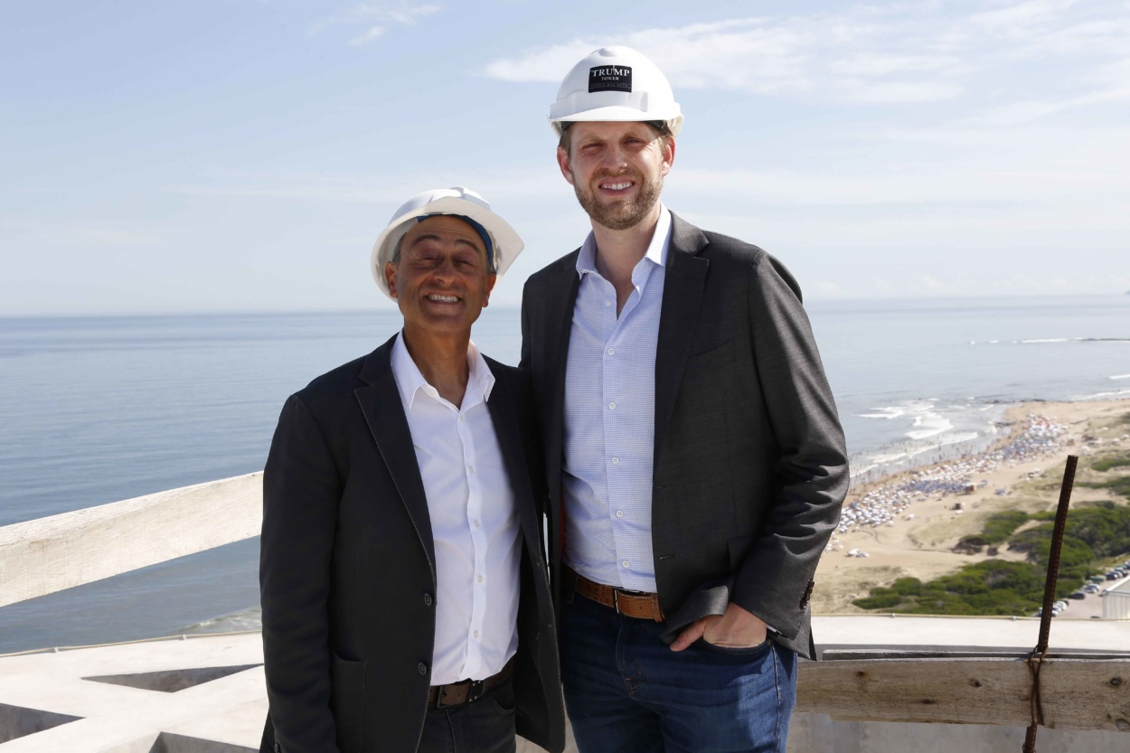 Moisés Yellati y Eric Trump